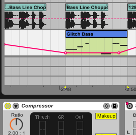 Bass line of SEAMS in Ableton Live